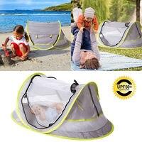 Mais novo bebê praia tenda de acampamento de viagem portátil upf 50 + sun abrigos à prova dwaterproof água e anti mosquito net|Colcha| |  -