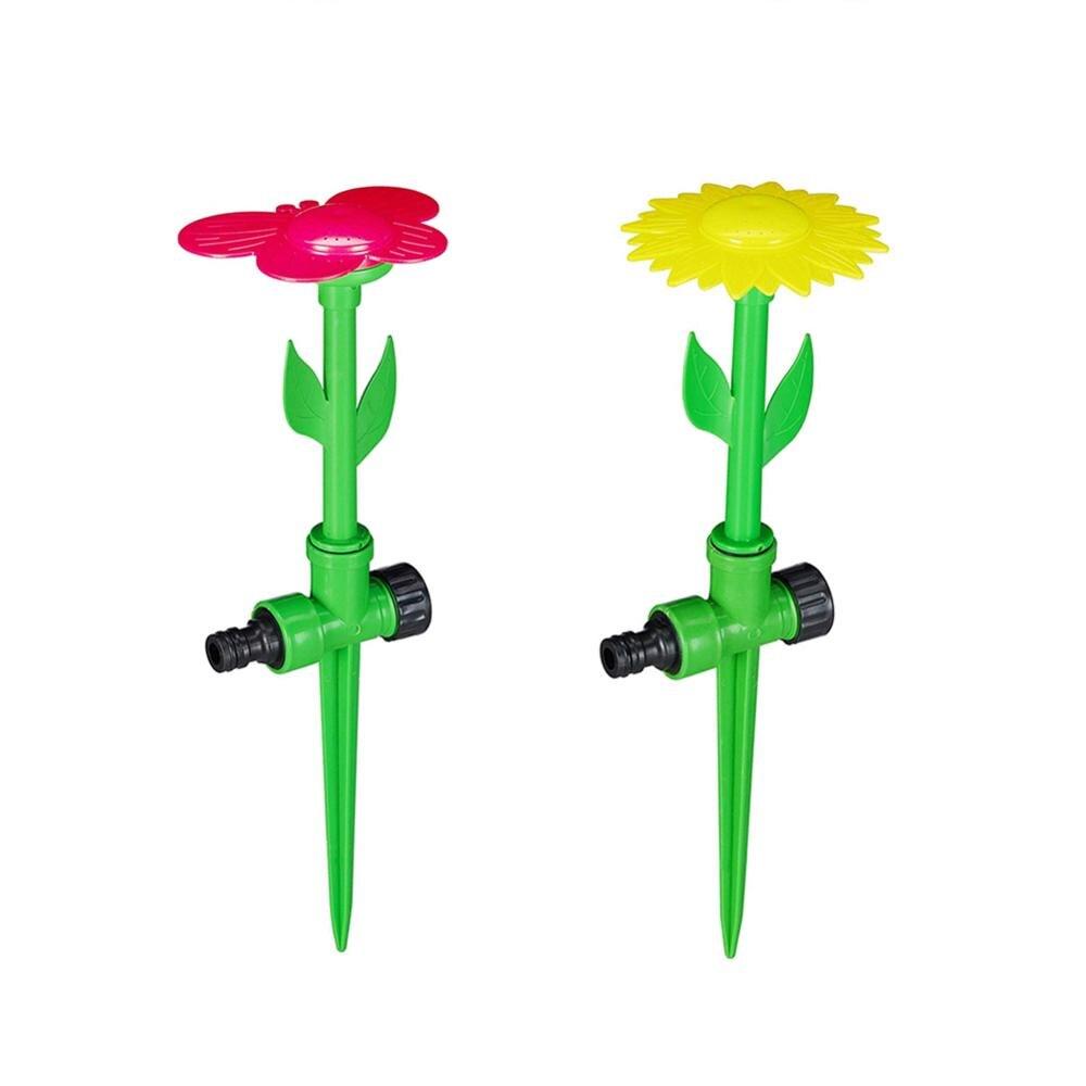 1 Piece Lawn Irrigation Watering Sprinkler Garden Decoration Sunflower Plastic Sprinkler Spike Sprayer