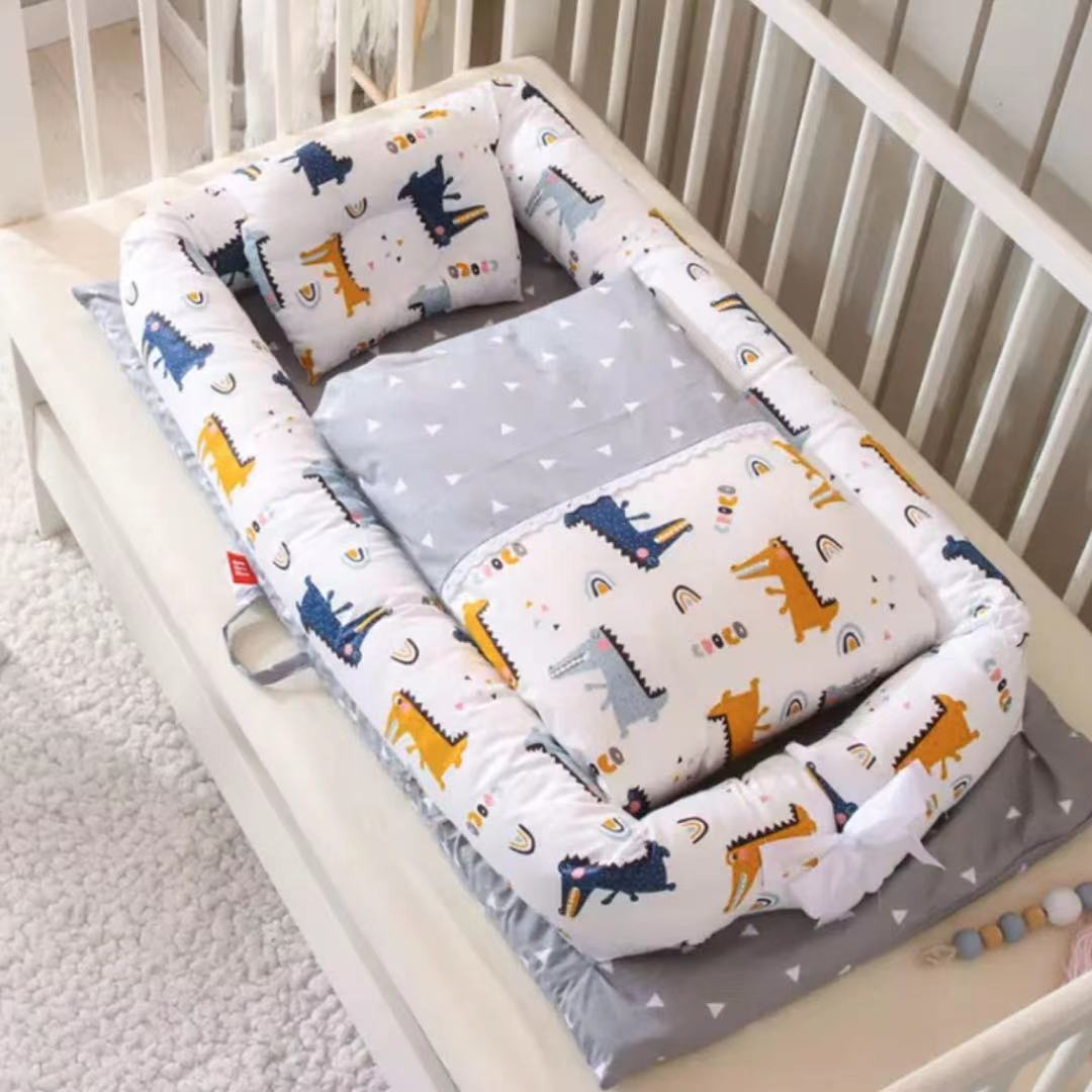 Children Pressure-resistant Crib Medium Bed Newborn кровать детская Folding Portable Bionic Beds BB Baby Travel Cot Furniture