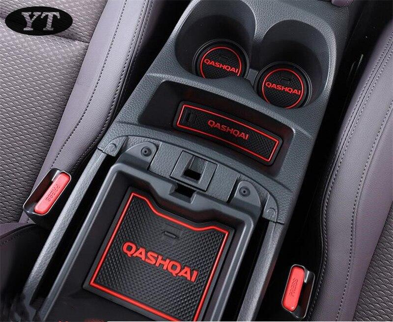 Antiderrapante auto interior porta portão almofada copo esteira para nissan qashqai j11 2019,17 pçs/lote, acessórios do carro