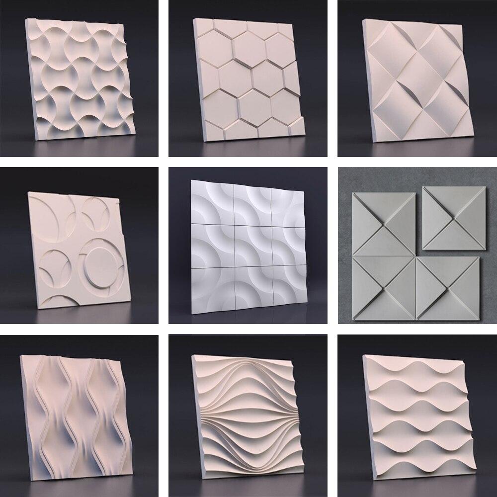 Ścienne z betonu cegły formy silikonowe cement ściany z cegły formy ściana tła formy tynk dekoracji formy dekoracji ścian formy w Formy do gliny od Dom i ogród na  Grupa 1