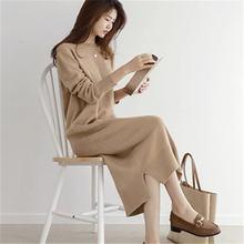 Женское зимнее платье rugod плотное с О образным вырезом длинным