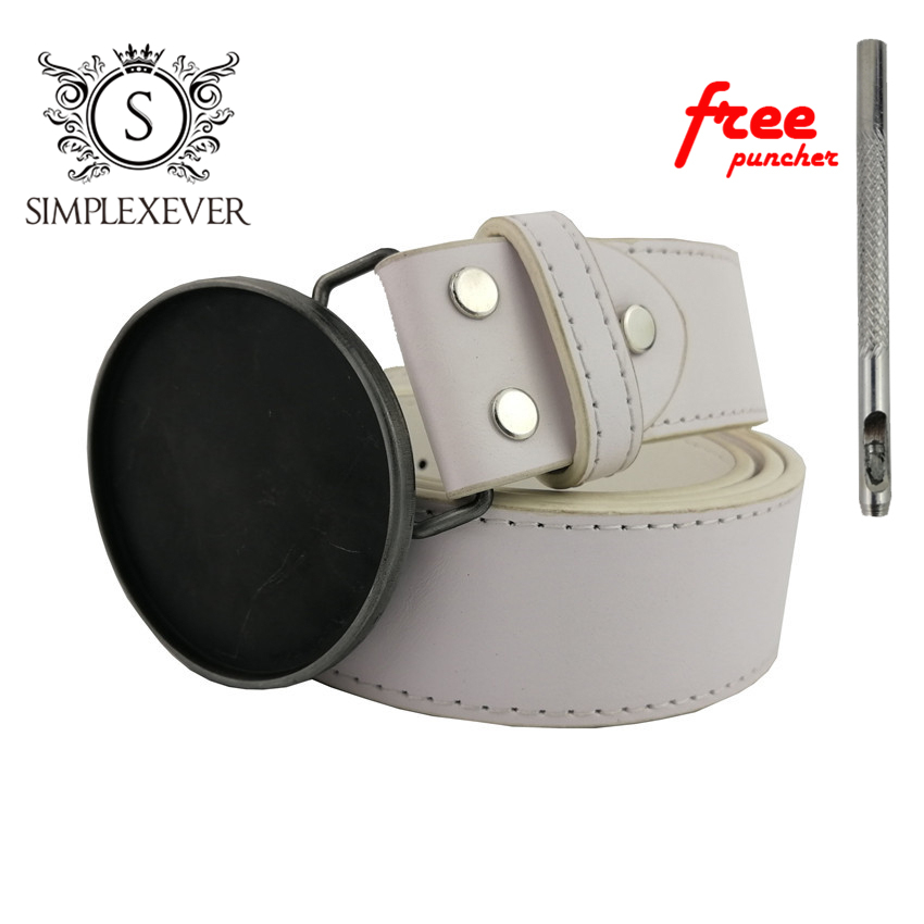 Silver Round DIY Belt Buckles For Men Blank Metal Belt Buckle Accessories For Women Best DIY Buckle Gifts
