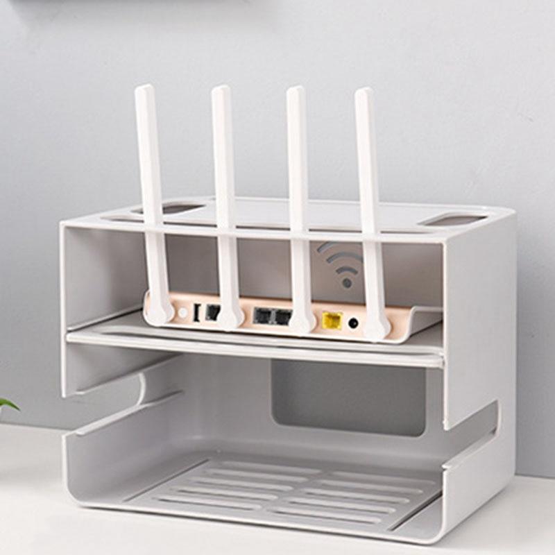 0-Двухслойный ящик типа беспроводной WIFI маршрутизатор коробка для хранения штепсельная плата кронштейн Кабельный органайзер для хранения смотреть на Алиэкспресс Иркутск в рублях
