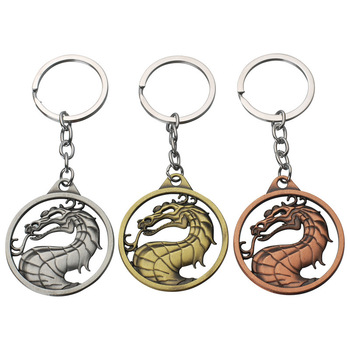 2019 hot key chain gift rights game Kombat mortal Kombat imperial fighting game logo dragon key chain image