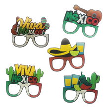 8pcs/lot Mexican Cactus Paper Glasses Photo Prop Summer Party/Mexico Theme Birthday Party Decorations Kids Favor