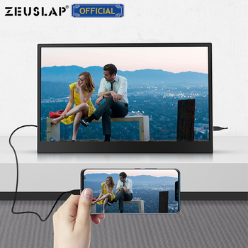 ZEUSLAP 15.6inch USB C HDMI-Compatible 1920*1080P PD HDR Monitor with Earphone port Ultrathin Portable Screen Gaming Monitor 4