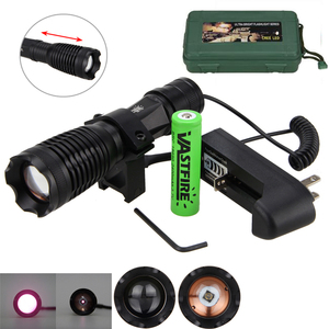 Image 2 - 10w IR 940nm Flashlight Tactical LED Night Vision Zoomable Infrared Radiation Focus Gun Lamp Hunting Torch+18650 Battery+Charger