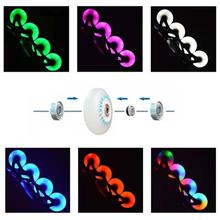 2Pcs 80% 2F76% 2F72mm In-line Speed Skate Skating LED Light Flashing Roller Wheels Outdoor Sports Accessories
