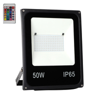 6PCS 20W 30W 50W RGB Led Flood Light Waterproof LED Luminaire Projector Outdoor Lamp rgb Spotlight With Remote Control