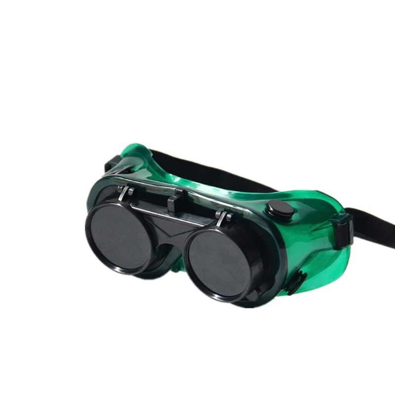 Flip-Up Industrial Cutting Eyes Protection Durable Soldering Welding Glasses Brazing Goggles Soft Frame Two Layers Safety Lenses