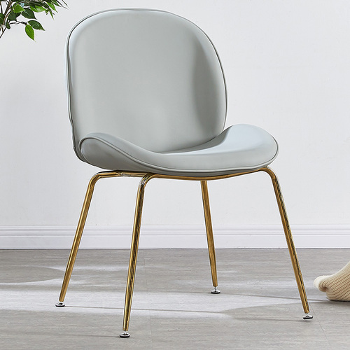 Nordic Luxury Modern Gold Steel Design Dining Room Chair Home Leisure Beetle Chair Restaurant Stool Comedores Modernos Muebles