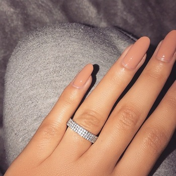 Hollywood Triple Promise ring 925 Sterling silver Pave AAAA cz Wedding Band Rings for women Bridal Statement Party Jewelry 1