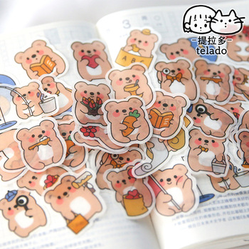 40 pcs/set Cute Chunky Little Animals Washi Paper Stickers  Scrapbooking Stationery Diary Sticker School Supply - discount item  21% OFF Stationery Sticker