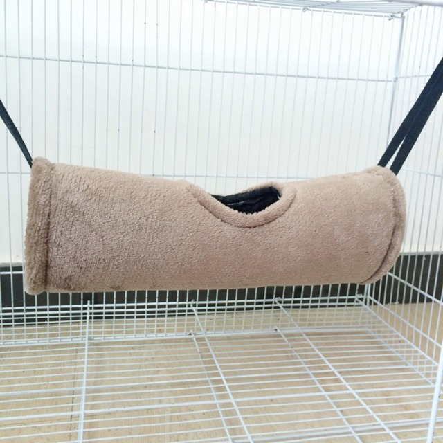 Hamster Hammock Pet Velvet Soft Warm Tunnel House Small Animals Tube Rat Ferret Toy Small Pet Parrot Hanging Cage Bed