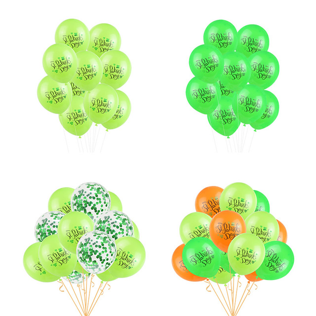 12inch Happy Saint Patrick 's Day Balloons Lucky Clover Print Balloon For Irish St. Patrick 's Day Party Supplies 1