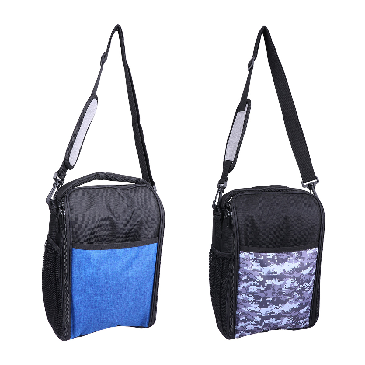 1PC Oxford Fabric Wine Carrier Insulation Folding Picnic Portable <font><b>Ice</b></font> <font><b>Pack</b></font> Cross Body Multifunction Student <font><b>Lunch</b></font> Cooler Bag image