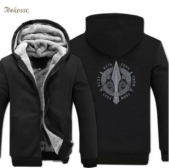 Viking Stylish Jacket Winter Brand Warm Fleece Hip Hop Hoody 1