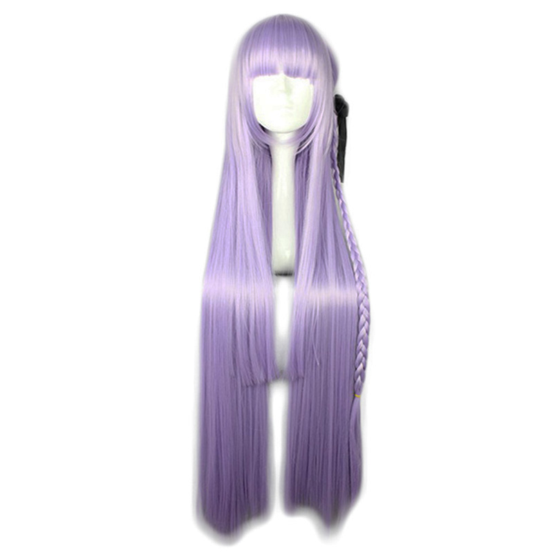 Anime Danganronpa Kirigiri Kyouko Wig Cosplay Costume Dangan Ronpa Women Long Synthetic Hair Halloween Party Role Play Wigs