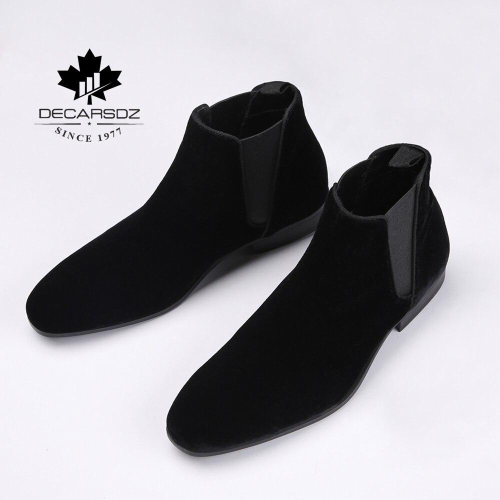 DECARSDZ/Ботинки Челси; Мужская обувь; Удобные мужские ботинки из эластичной замши; Модель 2020 года; Сезон осень; Модная мужская обувь; Классический оригинальный дизайн; Мужские ботинки|Ботинки челси|   | АлиЭкспресс - Мужская обувь