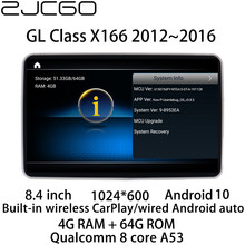 Radio con GPS para coche, reproductor Multimedia con Android, DVD, estéreo, pantalla para Mercedes Benz clase GL X166 GL350 GL450 GL550 GL500