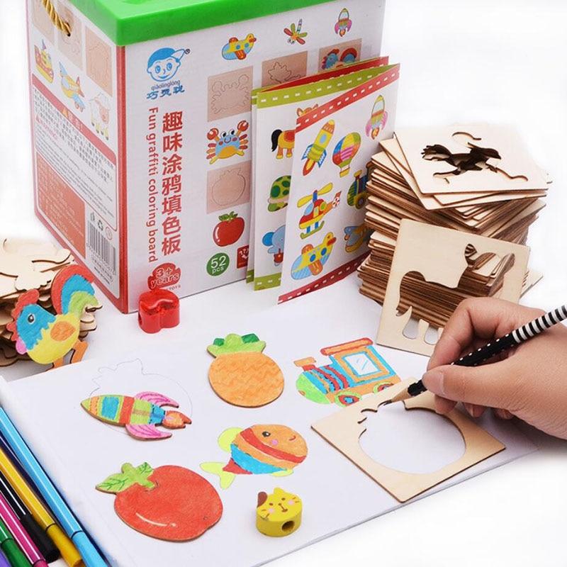 brinquedos do bebe pintura estencil modelos coloring board criancas criativo doodles aprendizagem precoce educacao brinquedo para