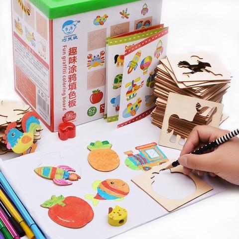 brinquedos do bebe pintura estencil modelos coloring board criancas criativo doodles aprendizagem precoce educacao brinquedo