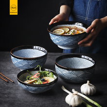Tableware Salad Ramen-Bowl Noodle Japanese Ceramic Home-Decoration Kitchen Restaurant