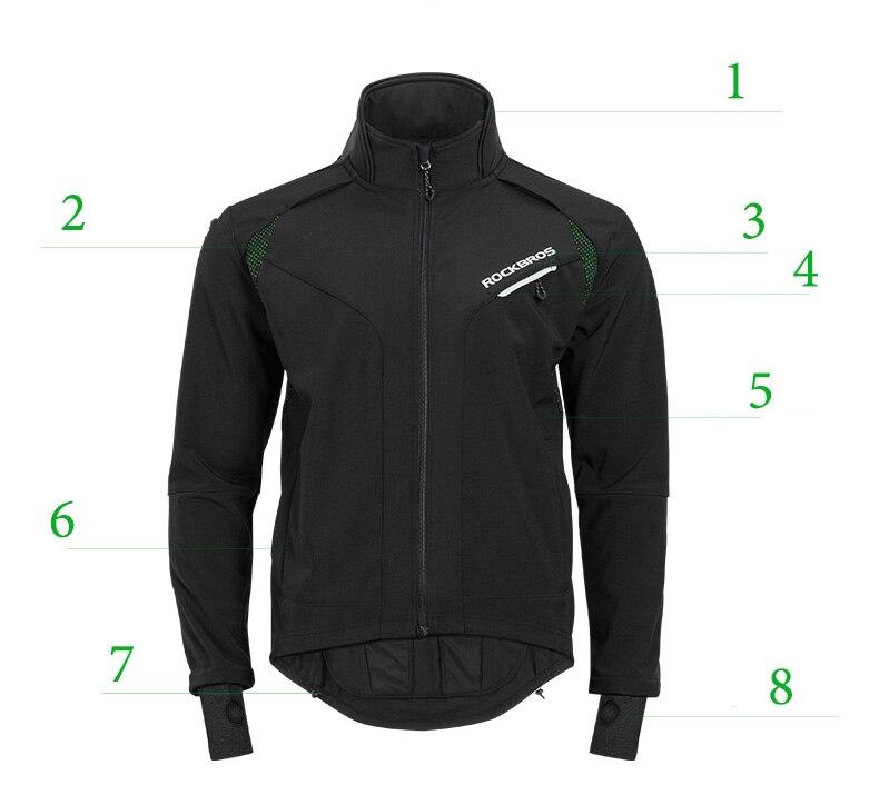 ROCKBROS Cycling Clothing Winter Thermal Fleece Pants Rainproof Windproof Reflective Cycling Jersey Set Men Women Sportswear