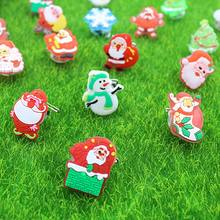 25pc Creative Christmas Decoration LED Flash Brooch Badge Children's Toys Gift 425D(China)
