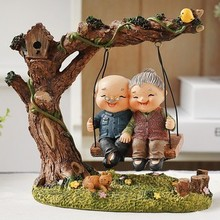 Resin Old Couple Figurines Stutues For Gifts Grandma and Gra