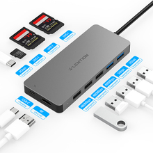 Lention USB HUB na Multi USB 3.0 HDMI Adapter Dock dla MacBook Pro 13.3 akcesoria USB C typ C 3.1 Splitter 11 Port USB C HUB
