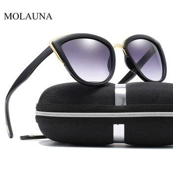 Luxury Brand Cateye Sunglasses For Women Vintage Gradient Glasses Retro Cat Eye Ladies Sun Glasses Female Eyewear Oculos Gafas