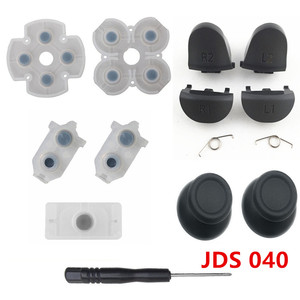 Image 3 - PS4 Pro JDM 040 Controller Reparatur Kit R1L1R2L2 Trigger Tasten 3D analog Joysticks Thumb Sticks Kappe Leitfähigen Gummi Film Schraube