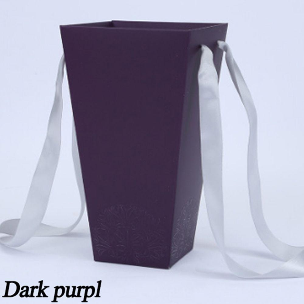 165*120 мм новые круглые бумажные коробки для цветов с крышкой, ведерко для цветов, подарочная упаковочная коробка, подарочные коробки для конфет, вечерние, Свадебные Поставки - Цвет: B(dark purple)