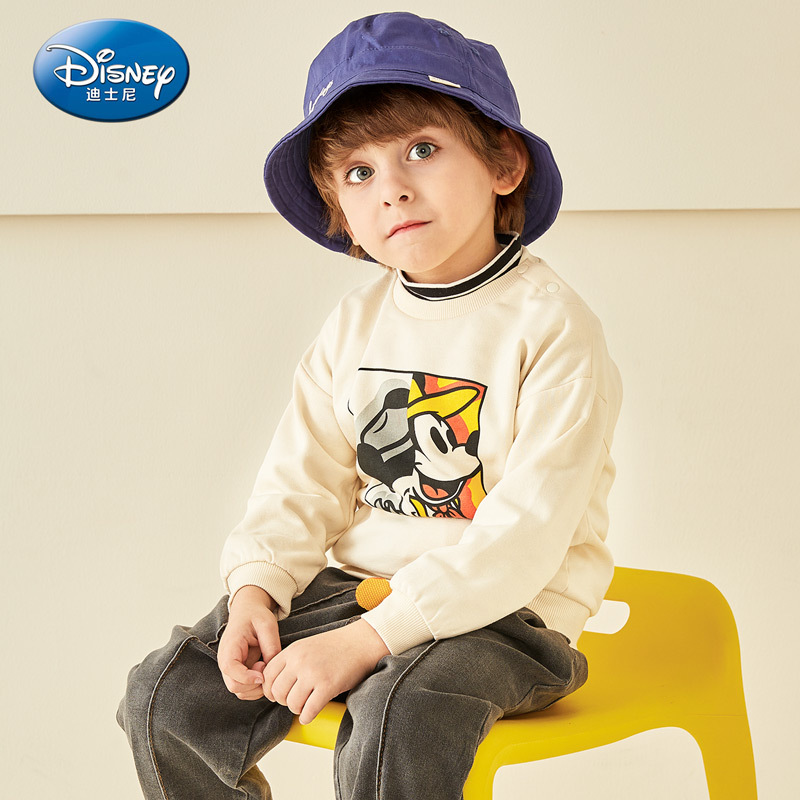 Disney Children's Wear Boys Knitted Round-collar Guard Clothes for Children's Leisure in 2019