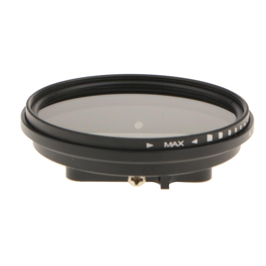 Ultra Slim ND2-ND8 Fader Variable Neutral Density Adjustable ND Lens Filter for GoPro HERO 4session/5session Camera Lens