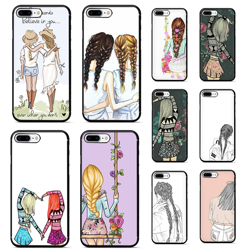 Best Friends <font><b>BFF</b></font> Soft TPU Silicone phone <font><b>case</b></font> for <font><b>iphone</b></font> 5 5s <font><b>SE</b></font> 6 6s 7 8 plus X XR XS MAX 11 pro Max image