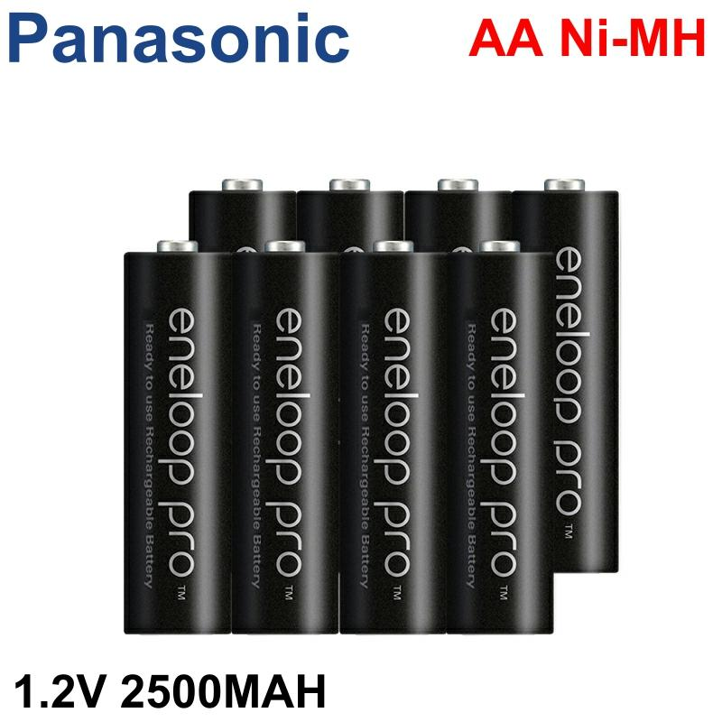 Panasonic  Eneloop 100%Original Battery Pro 14500 AA 2500mAh 1.2V NI-MH Camera Flashlight Toy Pre-Charged Rechargeable Batteries