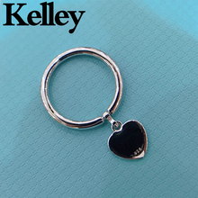 Kelley high quality original Tiff 925 sterling silver ring heart shape brand design ladies fashion luxury jewelry couple gift