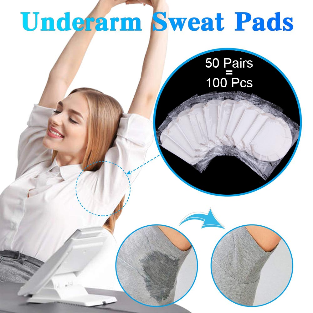 100/200Pcs Armpits Sweat Pads Underarm Gasket From Sweats Absorbing Pads Anti Armpits Liners Dress Disposable Deodorant Stickers