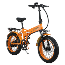 20 inch Electric bicycle 500W4.0 fat tire electric bicycle foldable beach cruiser moped folding 48v 12.8AH lithium battery