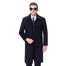2020 Men Woolen Coat Winter Long Coat Men Cashmere Coat Mens