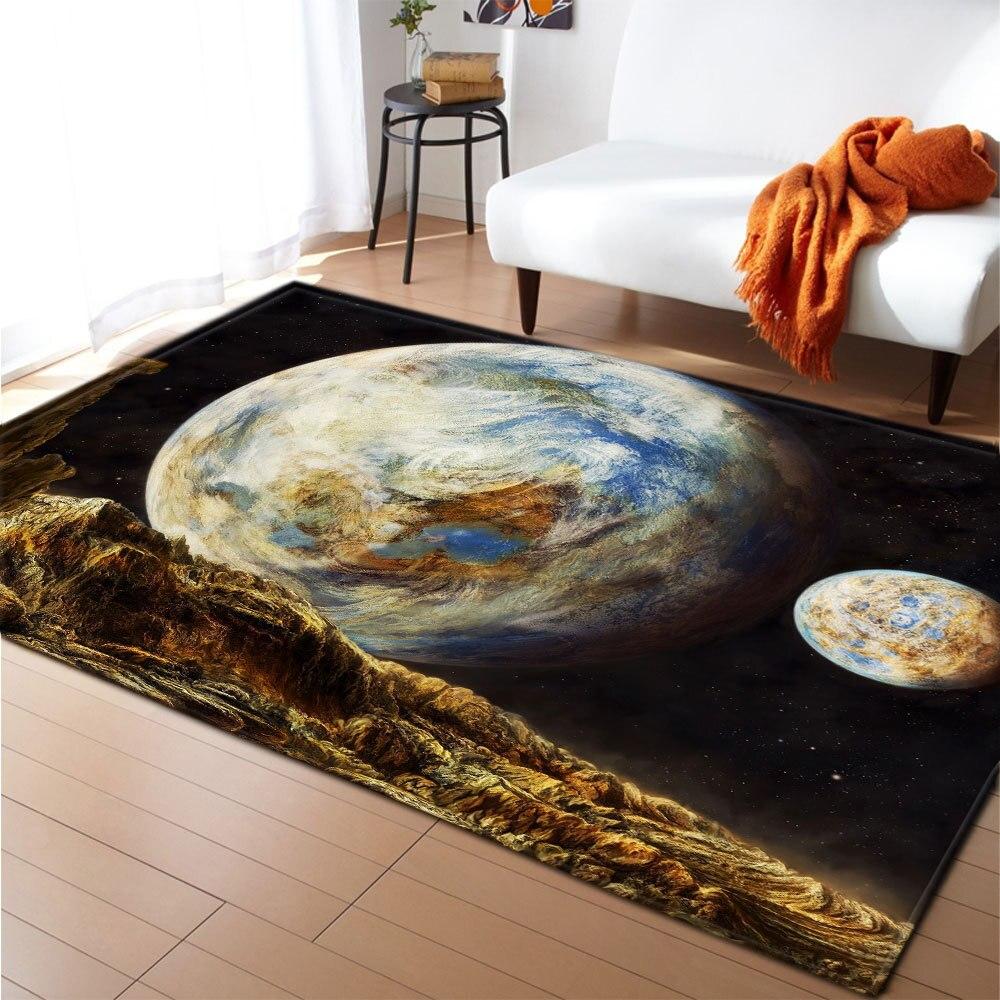 sala de estar galaxy espaço esteira tapetes