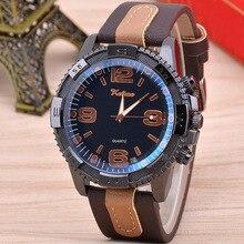 Leather Belt Blue Mens Watch Korean Digital Sports Quartz Male Luxury Brand Unique Men Watches 2020