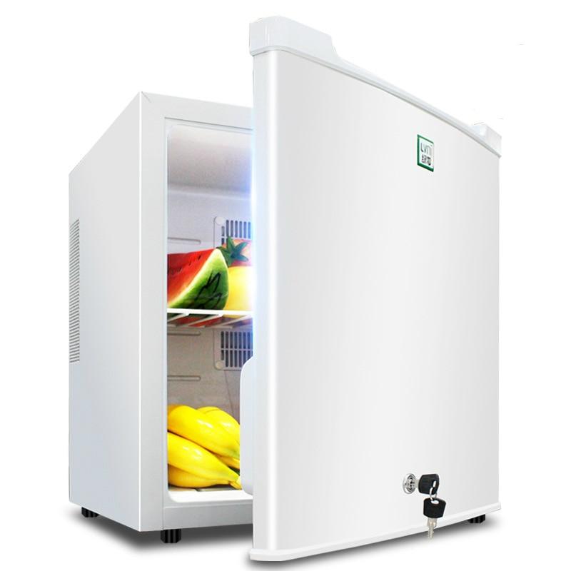 30L Mini Fridge Small Refrigerator For Hotel Room Household Refrigerator Glass Door Mini Cake Showcase Tea Cooler Box Portable