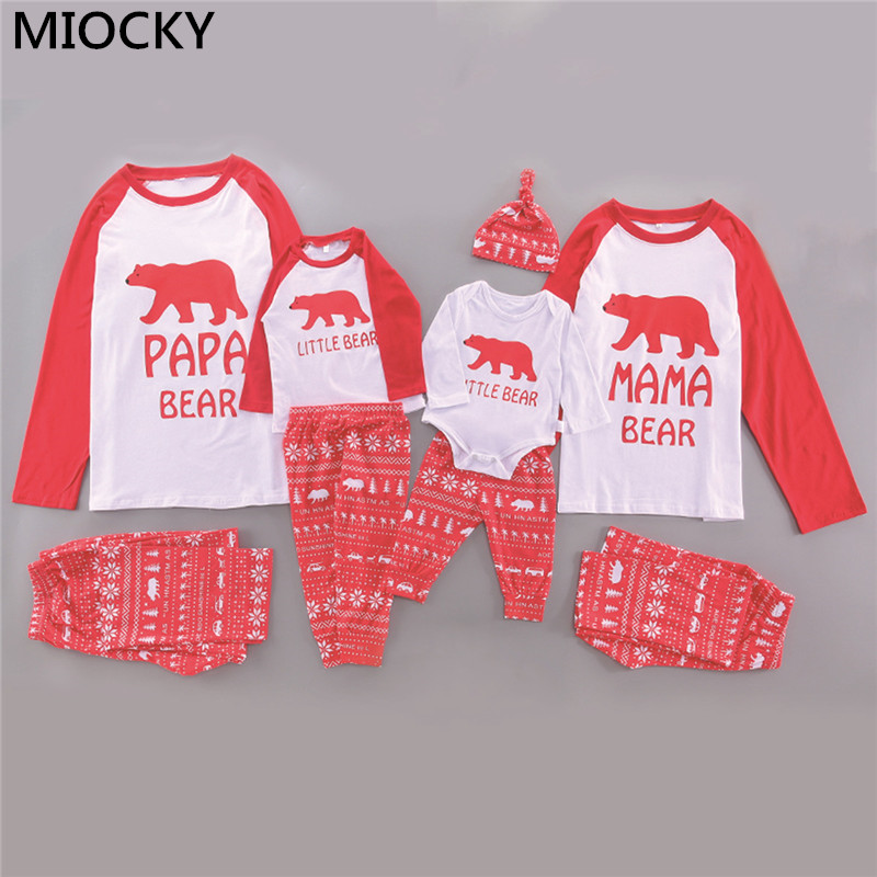 Family Match Christmas Pajamas Set 2019 New Xmas Hot Mum Dad Kid Baby Sleepwear Nightwear Homewear Family Matching Pjs Set E0299