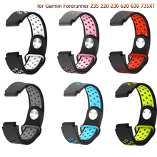 Replacement Silicone Strap Watchbands for Garmin Forerunner 235 220 230 620 630 735XT new fashion Watch WristBand Strap Bracelet replacement wristband wrist strap for garmin forerunner 235 220 620 630 735 735xt smartwatch fashio silicone watch band bracelet