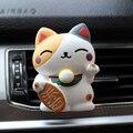 Glückliche Katze Auto Dekoration Innen Auto Duft Diffusor Lufterfrischer In Auto Parfüm Outlet Vent Clip Nette Auto Zubehör
