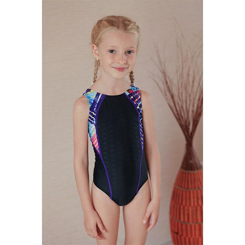 Children Profession Bathing Suit Teenager Siamese Swimsuit Big Virgin Girls Learn Swimming Training Triangular One-piece Swimmin